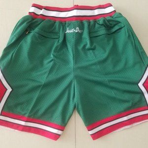 New NBA Just Don Chicago Bulls Basketball Shorts3